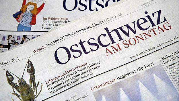 Erstausgabe der «Ostschweiz am Sonntag»