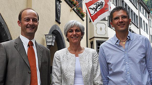 Marti, Caviezel-Hidber und Leibundgut (von links) regieren die Bündner Hauptstadt seit Anfang 2013.