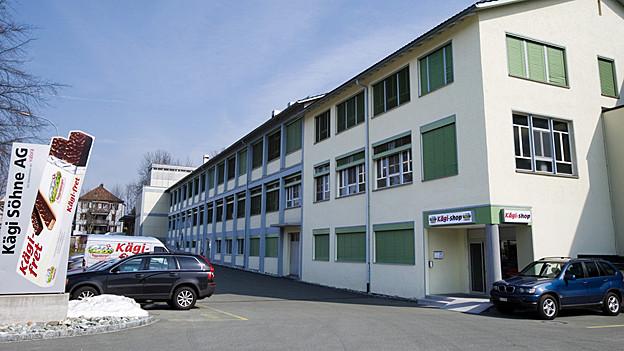 Das Fabrikgebäude des Waffelproduzenten Kägi in Lichtensteig.
