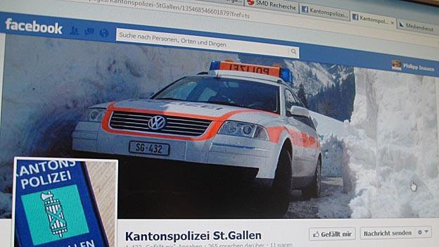 Wegen Kritik in den Medien, reagiert die Kapo SG und überwacht ihre Facebook-Seite besser.