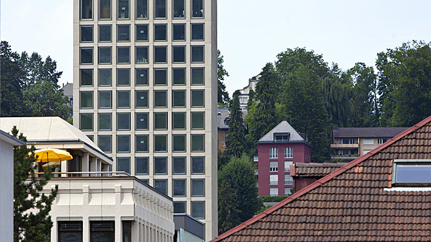 Das Parkhaus bei der St. Galler Fachhochschule wird wenig benutzt.