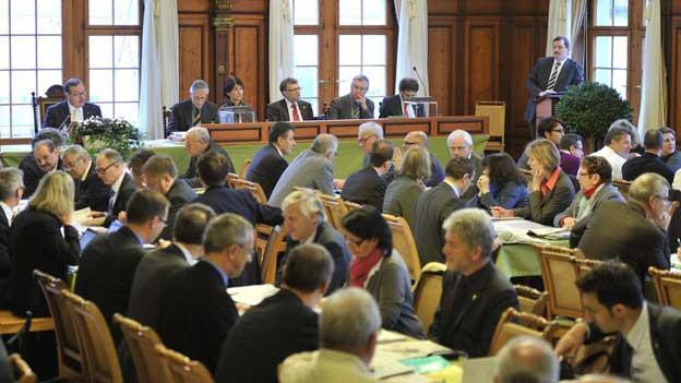 Ein Blick von 2012 in den Grossen Rat.