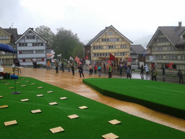 Der ehemalige Landsgemeindeplatz in Hundwil wird zum Festspielplatz