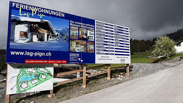 Bauprojekte in Graubünden sind von der Zweitwohnungsinitiative besonders betroffen.