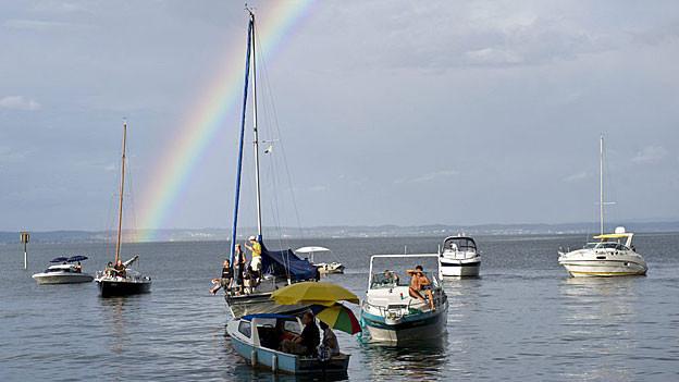 Andere Regeln auf dem Bodensee, da dieser ein internationales Gewässer ist.