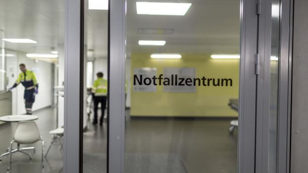 In der Notfallstation liegen wegen der Hitze bis 30 Prozent mehr Patientinnen und Patienten.