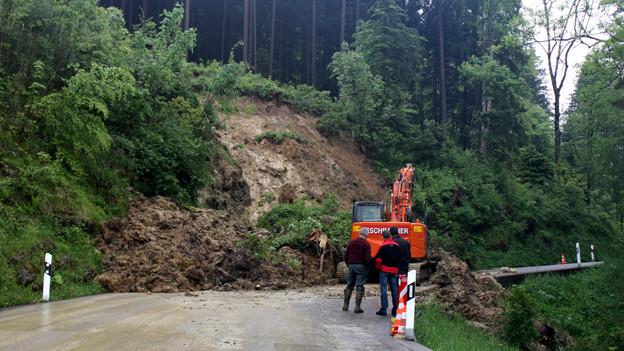 Am 2. Juni wurden mehrere Strassen in der Ostschweiz verschüttet. (Archiv)