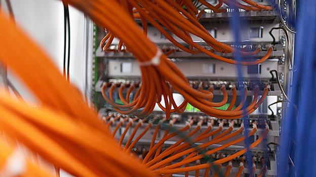 In einem Serverraum werden riesige Datenmengen gespeichert.