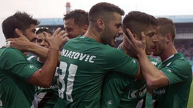 Der FC St. Gallen jubelt über seinen Sieg