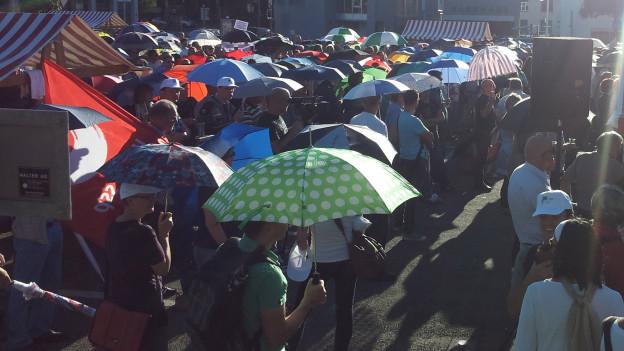 1200 Staatsangestellte demonstrieren im Thurgau