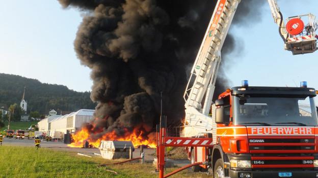 Die Flammen wüteten auf einer Fläche von 20 Fussballfeldern.