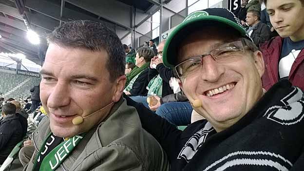 Die beiden FC SG Fans Roger Kreis und Marc Halter