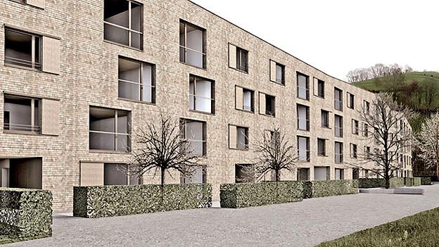 Visualisierung des Architekten: Die neue Wohnanlage auf dem Schlossareal.
