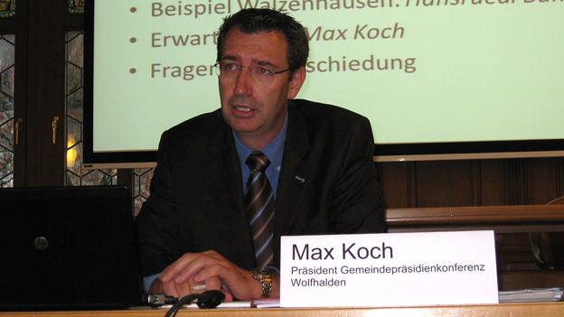 Max Koch, Gemeindepräsident Wolfhalden