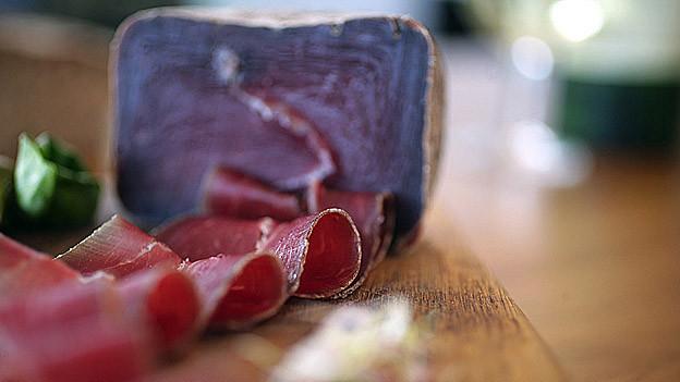 Exporteinbruch bei Bündnerfleisch