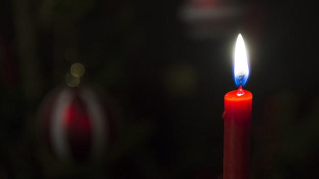 Das Geschäft mit den Kerzen läuft auf Hochtouren.