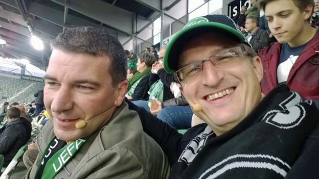 Die FCSG-Fans Marc Halter und Roger Kreis.