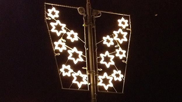 Störfaktor: Die Weihnachtsbeleuchtung in Bischofszell blinkt.