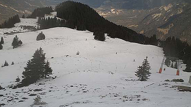 Die Brambrüsch-Webcam zeigt: Zu wenig Schnee