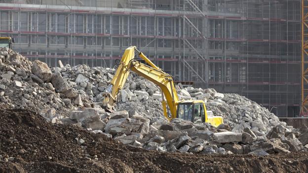 Wegen der regen Bautätigkeit braucht es neue Deponien.