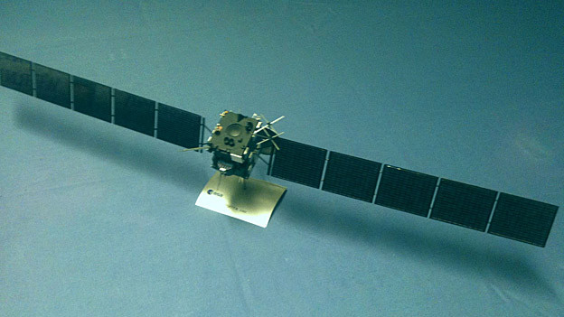 Raumsonde Rosetta - mit an Bord Kameraobjektive aus der Stadt St. Gallen.