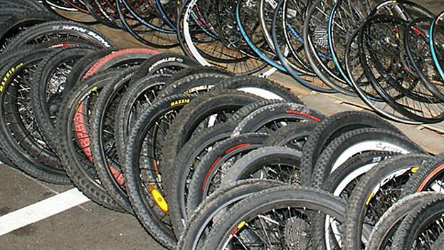 Gestohlene Fahrräder bei der Polizei