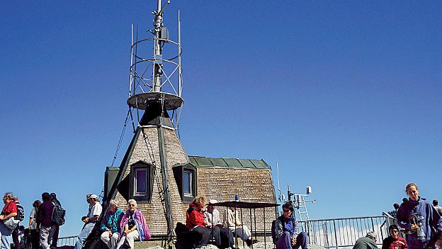 Seit 1882 betreibt MeteoSchweiz auf dem Säntis eine Wetterstation.