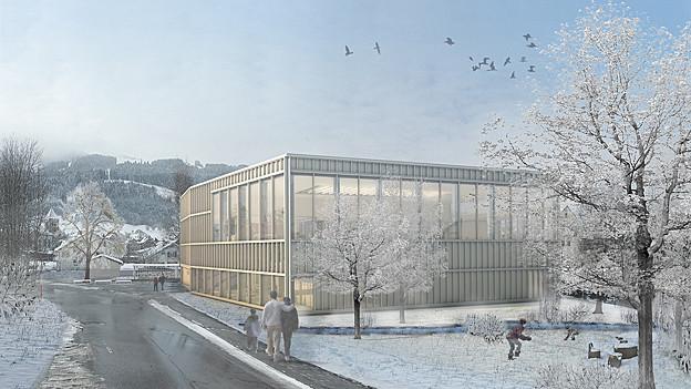 Der Bau des Hallenbads Appenzell verzögert sich.