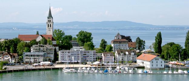 Ein Blick auf den Hafen von Romanshorn.