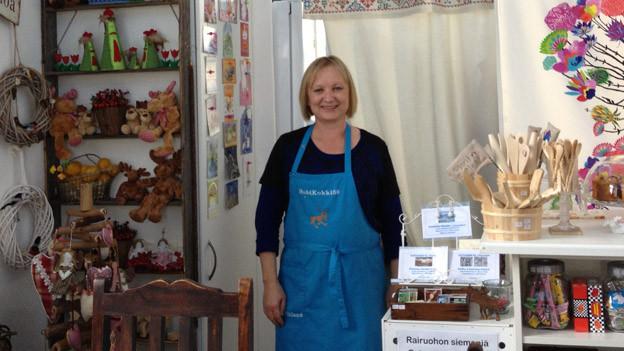 Mailis Pelikka in ihrem Shop in Kesswil.