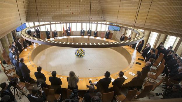 Ob der Landtag tagt wird am Nachmittag entschieden
