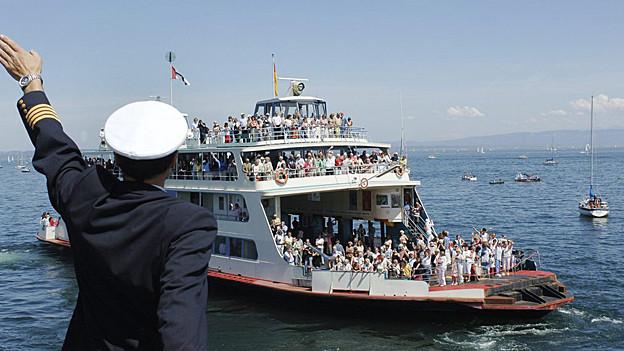 Fährschiff am Bodensee