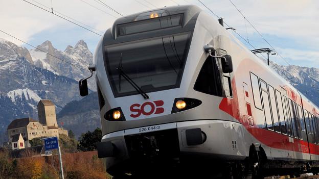 SOB-Zug auf Fahrt