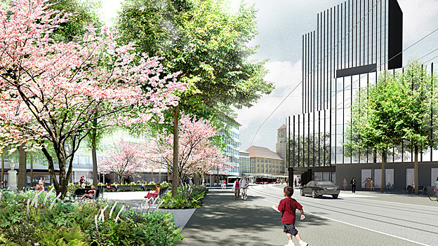 Visualisierung neuer Bahnhofplatz