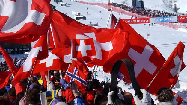 Die Ski-WM 2003 in St. Moritz.