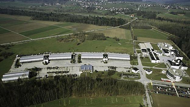 Kasernenareal Auenfeld aus der Luft
