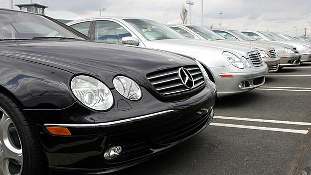 Geparkte Mercedes