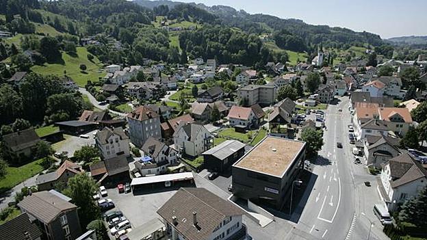 Gemeinde St. Margrethen aus der Luft