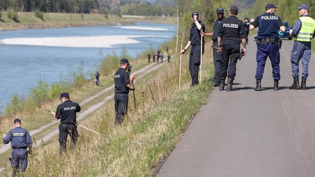 Deutsche Polizei informiert über Leichenfund.