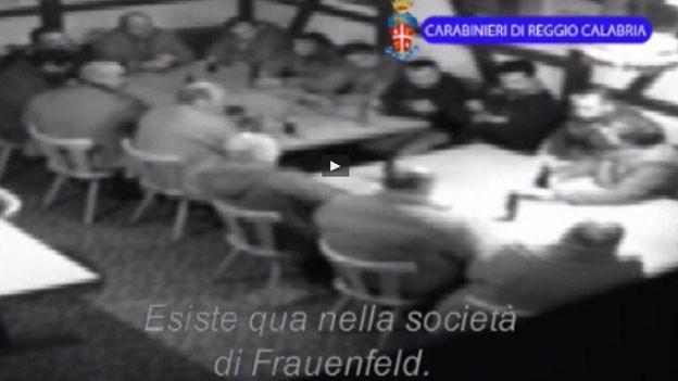 Die italienische Polizei veröffentlichte Bilder der Mafia aus dem Thurgau.