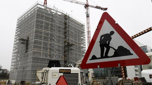 Die Bündner Baubranche erhielt im ersten Semester weniger Aufträge.