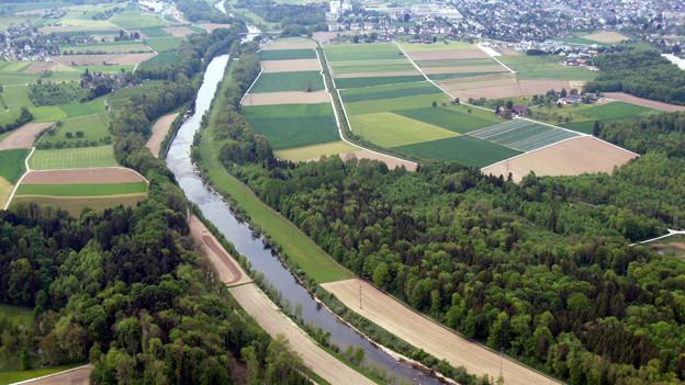 Die Thur bekommt zwischen Bürglen und Weinfelden mehr Platz.