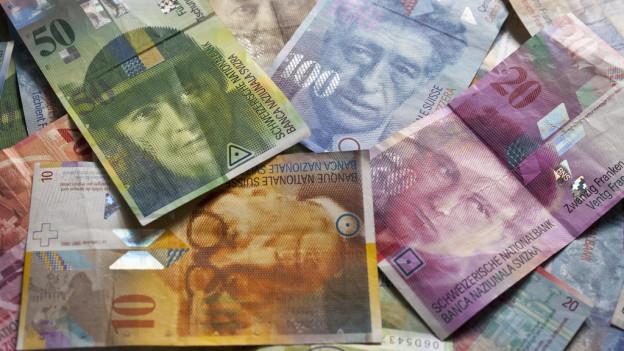Ein Haufen Banknoten.