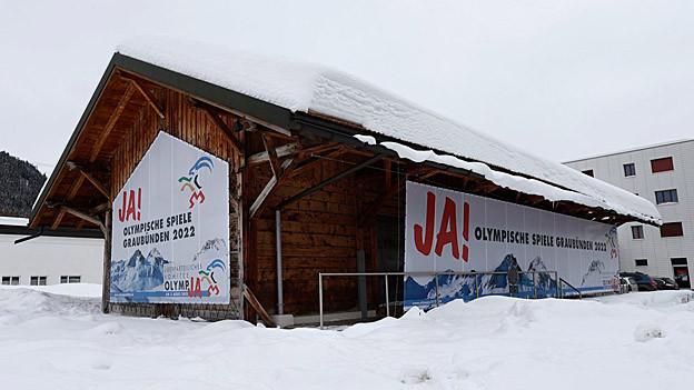 Ein Anstiimungsplakat zur Olympiaabstimmung 2013.
