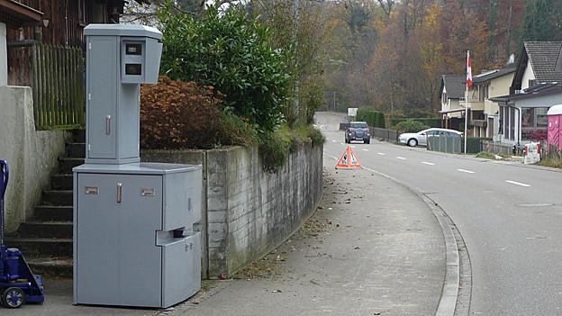 Mobilies Radargerät an St. Galler Strasse