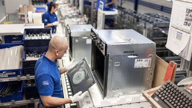 Electrolux stellt in Schwanden unter anderem Backöfen her.