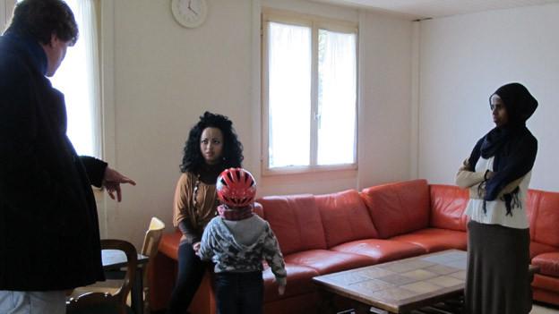 Afrikanische Asylbewerber im Durchgangsheim Frauenfeld