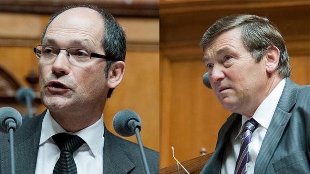 CVP-Nationalräte Daniel Fässler und Jakob Büchler live im Regionaljournal