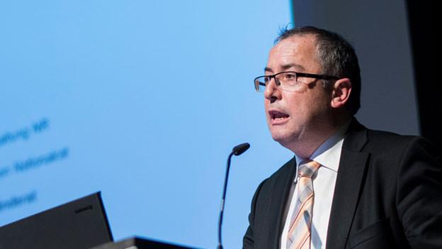 Thomas Ammann an der Delegiertenversammlung der CVP SG