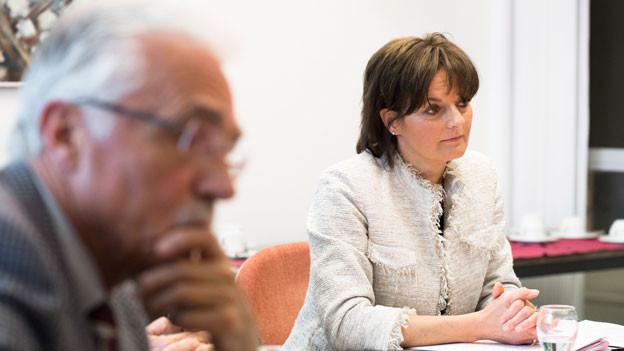 in Lightbox öffnen. Bildlegende: Die Rolle von Ruth Metzler müsse angeschaut werden, so die SVP. Sie übernimmt vorübergehend das Präsidium.